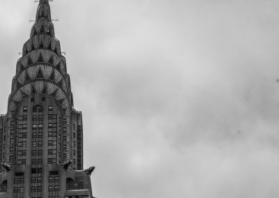 Chrysler building and clouds